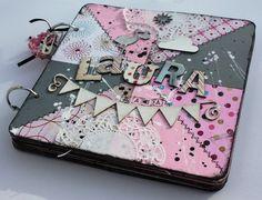 Girly patchwork style album by Ibu Design