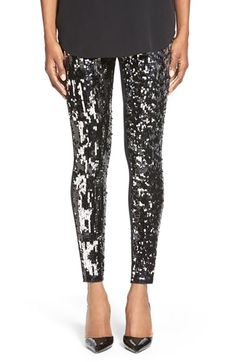 Free shipping and returns on Nordstrom Sequin Front Leggings at Nordstrom.com. Glittering sequins front these full-length leggings that combine comfort and glamour in one fell swoop.
