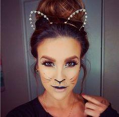 Maquiagem de gatinho improvisada para o carnaval