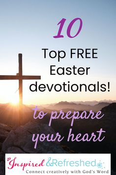 Prepare your heart for a beautiful Easter celebration with these free resources. Free 8-Day Reading Plan to download too! #inspiredandrefreshed Encouraging Bible Quotes, Bible Verses Quotes, Easter Devotions, Presence Of The Lord, Daily Scripture, Seeking God, Illustrated Faith, Easter Celebration