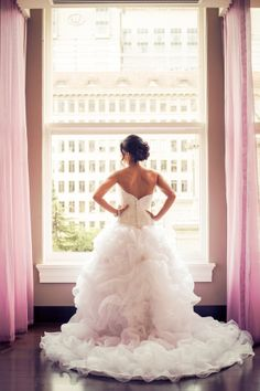 Blushing Bride at the Nines by Powers Studio