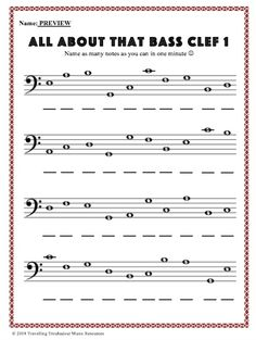 Music Theory Lessons, Music Theory Worksheets, Music Lessons For Kids, Music Lesson Plans, Piano Lessons, Art Lessons, Reading Sheet Music, Piano Sheet Music, Bass Clef Notes