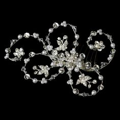 Pearl & Crystal Hair Accent Comb $78.00