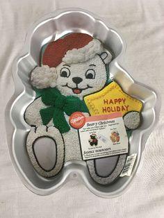 Wilton Bear-Y Christmas Cake Pan, Santa Bear, Star Baby 1998 2105-3314