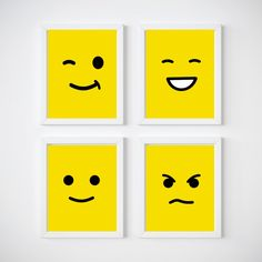 Lego Head Nursery Room Wall Decor, Kids Wall Decor Print your own decor
