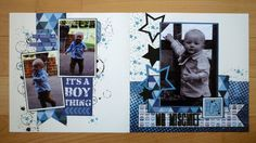 boy layouts by Debby Yates