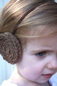 Princess Leia headband --- Lisa, your girls need these for next winter!!!!