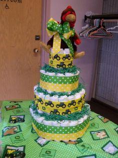 John Deere Baby Shower diaper cake