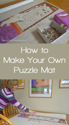 How to Make Your Own Puzzle Mat - Love doing puzzles, but hate how much space they take? Make your own puzzle mat and reclaim your table! Puzzle Roll Up Mat, Puzzle Mat, Puzzle Board, Jigsaw Puzzle Table, Puzzle Frame, Jigsaw Puzzles, Diy Projects To Try, Crafts To Make, Sewing Projects