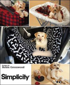 Simplicity 2984 Dog Car Seat cover Dog Toys Dog by ucanmakethis, $3.50- like the one for the back seats! Wish I could sew