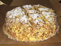 "Dicks Bakery. Vanilla Burnt Almond Cake The ""Go To"" cake for every SJSU Department celebration."