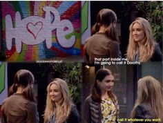 "#GirlMeetsWorld ""Girl Meets True Maya"" (I love how Maya is herself again, but left a little part of Riley in her. The Hope part)"