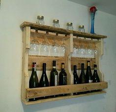 Oltre 1000 immagini su reusepalletart creazioni su for Mobile porta bottiglie