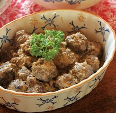 Finnish Beef Meatballs are simple to make for a Scandinavian dinner party.