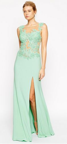 Asos maxi green beaded dress | trufflesandtrends.com