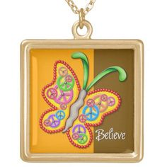Clockwork Butterfly Necklace - Yellow Easy Diy Crafts, Diy Craft Projects, Diy Crafts To Sell, Diy Crafts For Kids, Golf Crafts, Fun Diy, Glue Gun Crafts, Diy Father's Day Gifts, 4th Of July Party