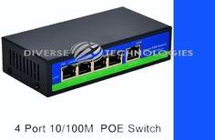 4 Port Passive POE Switch 4 +1 Ports 4,5+/7,8- Network Switch  #UnbrandedGeneric
