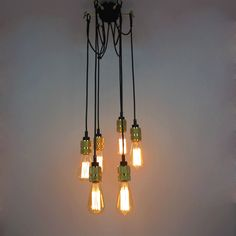 119.00$  Watch now - http://ali2li.worldwells.pw/go.php?t=32676822041 - Retro Rural Industrial Cafe Edison Split  Creative Ceiling  Pendant Lamp Cafe Bar