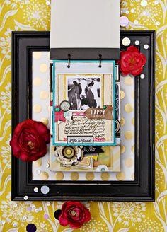 mini album on a frame, love the idea, #scrapbook #papercrafts