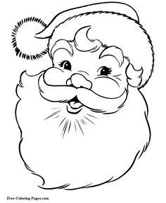 Christmas coloring pages - Santa Claus
