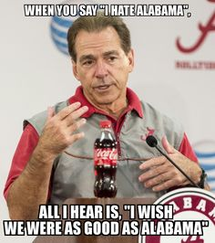 After the last match of Alabama, alabama memes goes viral on social media and internet. We compilte the ultimate collection of viral alabama memes. Roll Tide Alabama, Alabama Crimson Tide, Roll Tide Football, Alabama Vs, Sec Football, Crimson Tide Football, Alabama Decor, Alabama Baby, Football Season