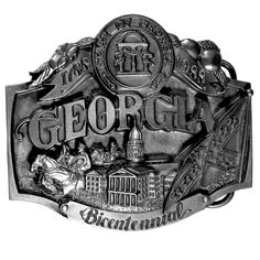 """Checkout our #LicensedGear products FREE SHIPPING + 10% OFF Coupon Code """"Official"""" Georgia on my Mind Antiqued Belt Buckle - Officially licensed Siskiyou Originals product Fully cast, metal buckle    - Price: $20.00. Buy now at https://officiallylicensedgear.com/georgia-on-my-mind-antiqued-belt-buckle-g44"""