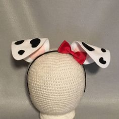 RED Bow on Dalmatian Puppy Dog Ears Headband black white spots Dalmation Halloween costume animal baby children adult birthday party favors Dalmatian Puppy Dog Ears Headband Bow black white spots Puppy Halloween Costumes, Puppy Costume, Halloween Kostüm, Baby Costumes, Adult Costumes, Diy Dalmatian Costume, Dog Ears Costume, Halloween Fashion, Halloween Birthday