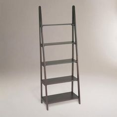 WorldMarket.com: Dillon Ladder Bookcase $139  Maybe two with the desk in the middle?