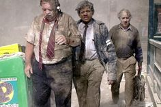 The image of George Sleigh, 63 years old, covered in soot and ash moving away from the World Trade Center went around the world in the days after September 11, 2001 'The man with the bag', he was called.