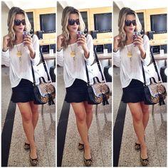 .@blogdaflavia | Basicao da sexta! | saia @espacoqu4tro; sapatilha e bolsa @andarellanatal #l... | Webstagram