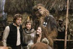 Group photo on the Ewok village set.