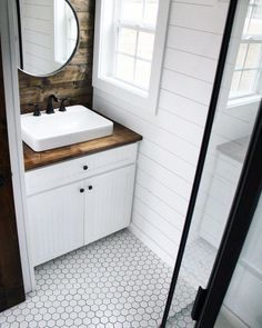 """We are Mustard Seed Tiny Homes – luxury tiny house builders based outside of Atlanta, GA – and this is """"Sprout""""! We built this home with top of the line materials, full sized appliances, and excellent craftsmanship. Subscribe to Tiny House Listings on YouTube for lots of upcoming tiny house video tours here. 285 square feet… #HomeAppliancesHouseOnWheels #HomeAppliancesSquareFeet"""