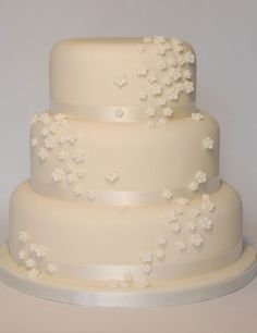 Simple wedding cakes ~ maybe just a little color now