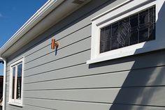 Resene Half Tapa on exterior weatherboards