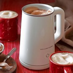 Honestly -- this is the best applicance. I use it 2x a day and no longer have cold milk with my coffee. Williams-Sonoma Electric Milk Frother #williamssonoma