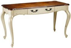 Provence Writing Desk from Home Decorators Collection - good for my office Home Office Desks, Home Office Furniture, Office Decor, Office Ideas, Office Nook, White Writing Desk, Home Living, Living Room, Furniture Makeover
