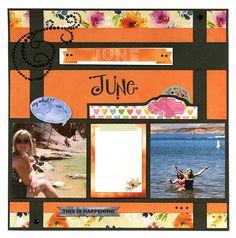 BoBunny: More Of A Year With Calendar Girl! Beautiful June! #BoBunny
