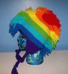 Rainbow Mohawk Hat