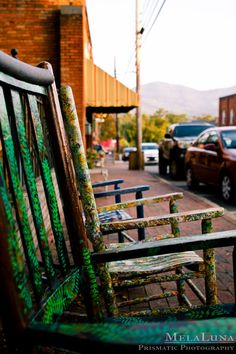 Black Mountain, NC Hand Painted Rockers ... Fine Art PRINT ... Local Photography, Tourism, Mountain Towns in WNC .. Wall Art