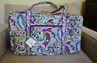 Vera Bradley Large Duffel Travel Bag in Plums Up Mickey