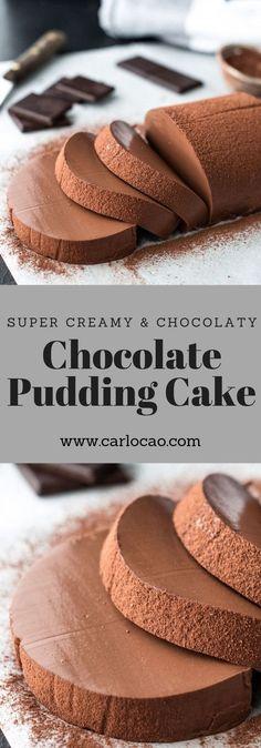 Schoko Pudding Cake Veganer Pudding Vegaliciously by Carlo Cao Easy Cake Recipes, Easy Desserts, Sweet Recipes, Baking Recipes, Dessert Recipes, Dessert Food, Cheesecake Recipes, Dessert Ideas, Pie Recipes