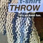 "T-shirt yarn throw. Macrame, upcycle old t-shirts. There is a tutorial on this site for making t-shirt ""yarn"" to use in this and other projects. Yarn Projects, Diy Projects To Try, Sewing Projects, Recycled T Shirts, Old T Shirts, Fabric Crafts, Sewing Crafts, Recycling, How To Make Tshirts"