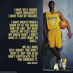 Trendy basket ball quotes kobe bryant legends ideas The concept of sport is a Kobe Quotes, Kobe Bryant Quotes, Kobe Bryant Family, Kobe Bryant 24, Bryant Lakers, Basketball Motivation, Basketball Sayings, Sports Sayings, Basketball Tattoos