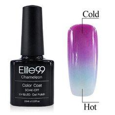 Qimisi Nail Lacquer Changing Colour with Temperature Nail Art Soak-off UV LED Nail Art Polish 10ml