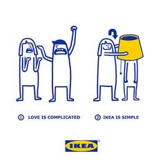 Cute Illustrations Show How Complicated Love Is Made Simpler With IKEA Products - DesignTAXI.com