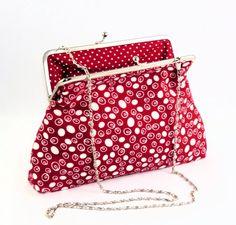 Clutch / Clipstasche mit abnehmbarer Kette von creatissimo - besondere Dinge für besondere Menschen auf DaWanda.com