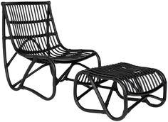 Shenandoah Chair & Ottoman Black