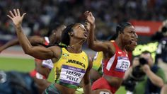 Jamaican sensation Shelly Ann Fraser-Pryce beat a strong field to claim gold in 9.75 seconds. Compatriot Veronica Campbell-Brown took bronze in 10.81 while USA's Carmelita Jeter squeezed through for silver in 10.78