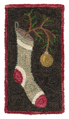 The Stockings Were Hung - Pattern for Punch Needle Embroidery on Etsy, $13.14 CAD