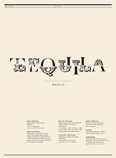 Storys Parlor tequila menu – by Biography Design
